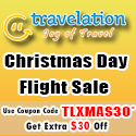 $30 Off Christmas Travel Flight Discount
