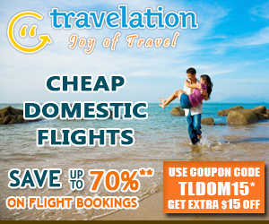 Cheap Domestic Flights. Book Now and Get $15 Off