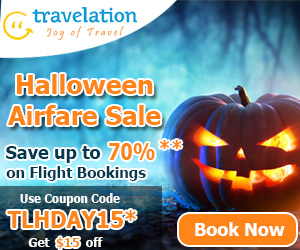 Halloween Flights Deals. Book Now and take Flat $30 Off with Coupon Code - TLHDAY30