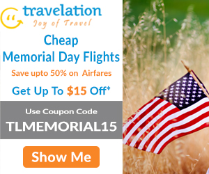 Memorial Day Airfare Sale. Book Now and Get $30 Off.