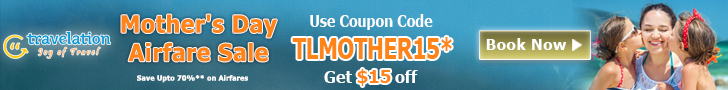 Last Minute Mother's Day Airfare Sale. Book Now and Get $30 Off.