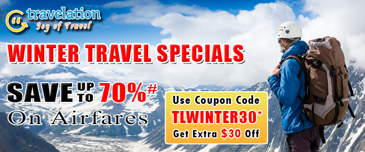 $30 Off Winter Travel Discount Sale