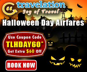 Halloween Day Flight Discount Of $30! Hurry, Book Now.