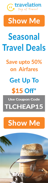 Huge discount on Seasonal Travel Deals. Book now & Get up to $15* Off with coupon code TLCHEAP15. Hurry! Offer Valid for Limited Period Only