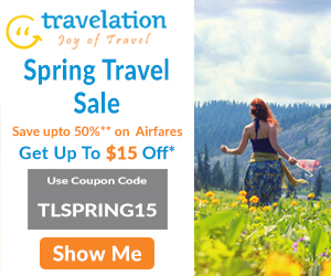 Spectacular Spring Travel Deals. Book now and Get $30 Off with coupon code TLSPRING30. Hurry! Offer Valid for Limited Period Only.