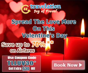 Exclusive Valentine's Day Flight Deals! Get $30 Off with Coupon Code TLLUV30. Book Now