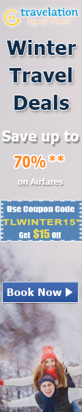 Winter Travel Deals. Book Now and get 70% off also take $15 Off with Coupon Code – TLWINTER15.