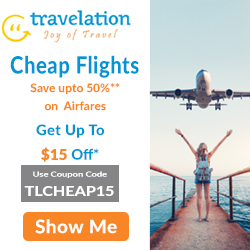 Cheap Flight Tickets! Book Now & Get up to $15 Off on flight booking. Use Coupon Code TLCHEAP15